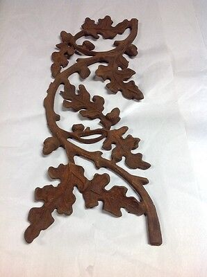 ANTIQUE CAST IRON OAK LEAF ACORN Panel Architectural (lot A)