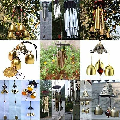 Antique Lucky Tube Bells Copper Church Garden Outdoor Hanging Wind Chimes 7Types