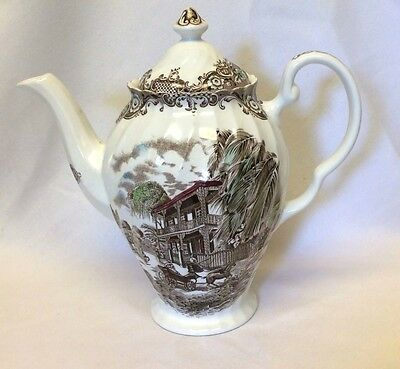 Johnson Brothers Heritage Hall French Provincial Coffee Tea Pot Vintage