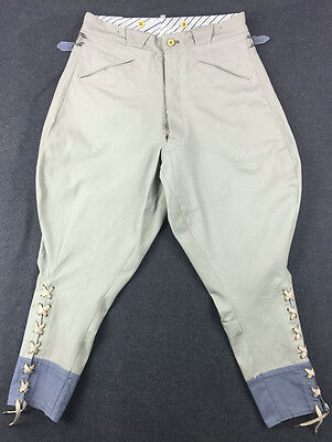 WW2 France French Officer Mastic Pants Breeches Heavy Cotton