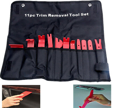 11pc Trim Removal Kit ABS Door Trim Panel Dash Installer Removal Wedge Pry Kit