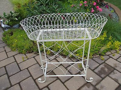 ((((Sale))))  Antique French  Wire Planter Stand In Great Condition