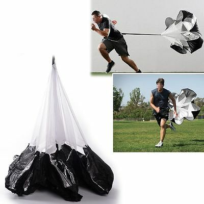 "56"" Running Power Chute Speed Training Resistance Exercise Parachute fr Football"