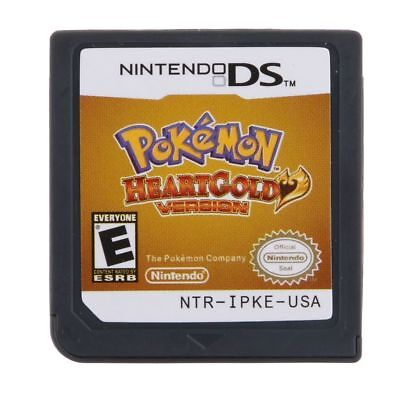 Pokemon HeartGold Game Cards Nintendo 3DS NDSI NDS DS Lite XL a F01