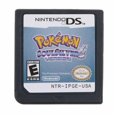 Pokemon SoulSilver Game Cards Nintendo 3DS NDSI NDS DS Lite XL a F01