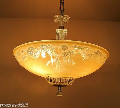 Vintage Lighting matched pair of dramatic 1930s chandeliers