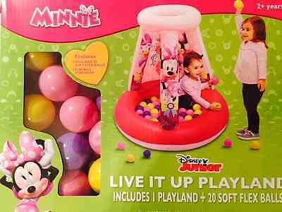 Disney Junior Minnie Mouse Clubhouse Inflatable Ball Pit Playland and 20 Balls