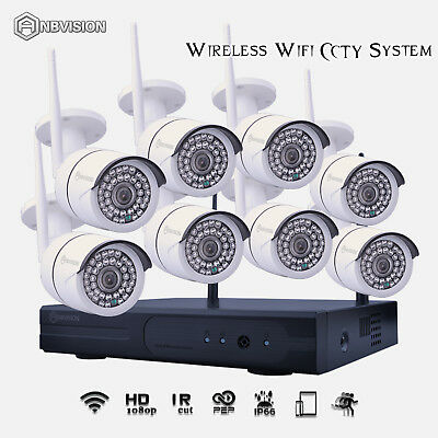 8pcs Wireless 36LEDs 720P IP Camera 8CH P&P NET NVR CCTV HOME System AU SHIPPING