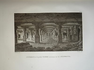William DANIELL ENGRAVING PAGODA SALCETE TALUKA GOA MARGAO INDIA HINDOUSTAN 1820