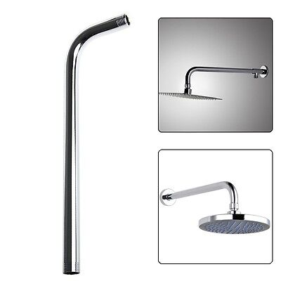 60CM Wall Shower Head Arm Extension Pipe Long Stainless Steel Bathroom Home