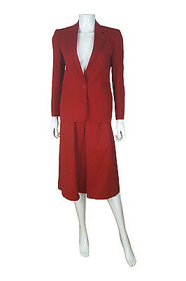 *christian Dior* Vintage Red Wool Two Piece Skirt Suit