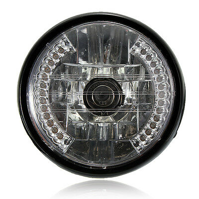 7 Inch Motorcycle Round Headlight Halogen H4 Bulb Head Lamp For HARLEY BOBBER UK