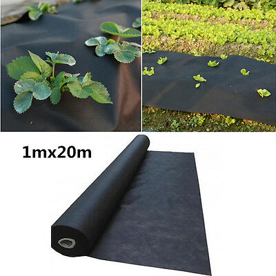 1m x 20m Weed Control Fabric Membrane Ground Sheet Cover Garden Driveway Mulch