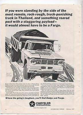 Chysler Fargo Truck Original Advertisement removed from a Magazine