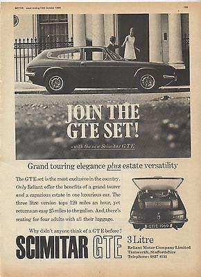 Scimtar GTE Original Advertisement removed from a magazine