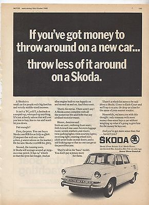 Skoda MB Original Advertisement removed from a magazine