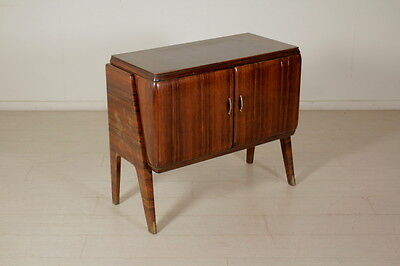 Rosewood Veneered Cabinet with Internal Dry Bar Vintage Italy 1940s-1950s