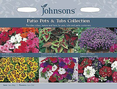 Johnsons Seeds Patio Pots & Tubs Collection Seed