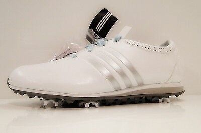 ADIDAS DRIVER LACE LDc99 RUN WHITE/MET SILVER WOMENS GOLF SHOES UK SIZE 5.5