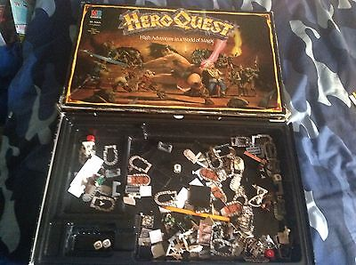 Games Workshop Heroquest Cards Books Rules Boxed Game Job Lot Spares Hero Quest