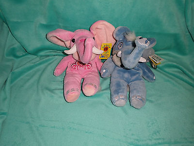 Beanie Kids lot of 2 Sari and Naughton the Elephant Bear with tags