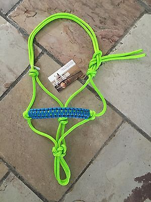 BNWT Mini Pony Size Rope Halter Lime Green ~ Blue ~ Horse Gear Tack