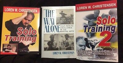 (Signed) SOLO TRAINING BOOK & DVD COMBO By Loren W. Christensen Karate-Do MMA