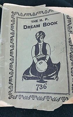 The H.P. Dream Book 1926 1927 Rare Antique Lucky Numbers Policy Hoodoo