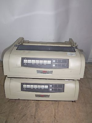 2 x OKI MICROLINE 5520 9 pin Dot Matrix Monochrome Ink Ribbon Printers !!!
