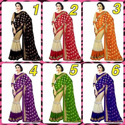 Indian Bollywood Style designer Saree sari wedding fancy Wear Traditional ethnic