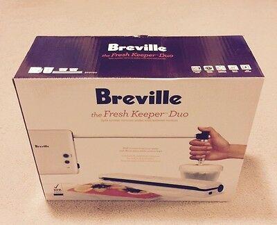 Breville Fresh Keeper Duo Vacuum Sealer System - Brand New!