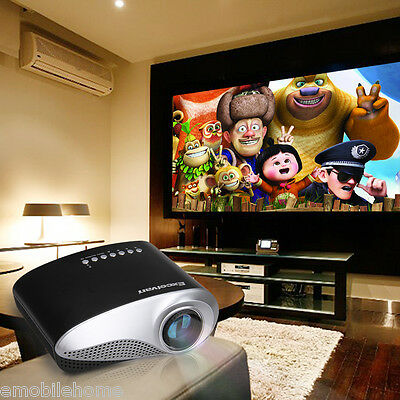 Excelvan HOT Home Theater LED LCD Projector 480*320 USB VGA HDMI