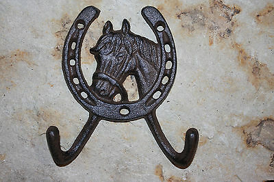 (12), WESTERN DBL. WALL HOOK,horses,ranch, country decor,home decor,garden, W-5