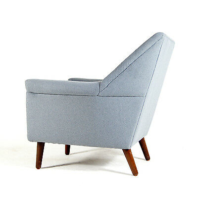 Retro Vintage Danish Teak & Italian Wool Lounge Easy Chair Armchair 60s 70s