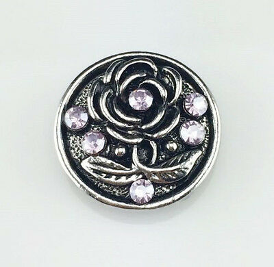 3D Rhinestone Snaps Chunk Charm Button Fit For Noosa Bracelets I JoMacDesigns