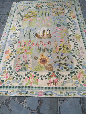 Claire Murray Rug Vintage Hand Hooked 100% Wool Floral 80 X 111