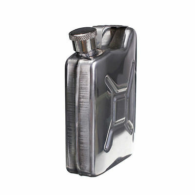 Jerry Can Stainless Steel 5oz Drinking Hip Flask - shaped like car petrol can
