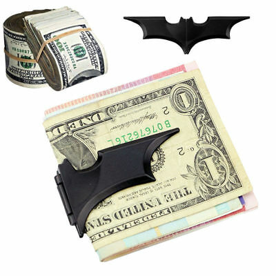 Matte Black Batman Money Clip Magnetic Folding Card Metal Holder Wallet - Cooool