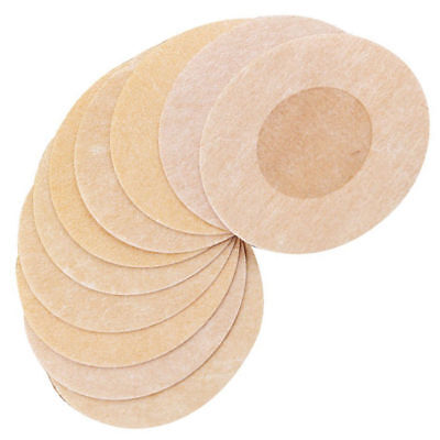 10x Round Shape Adhesive Breast Nipple Cover Sticker Bra Pad Patch Disposable UK