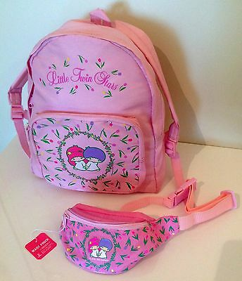 Sanrio vintage Little Twin Stars: daypack and pouch NEW Very RARE!!!