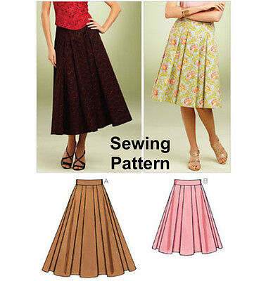 Kwik Sew K3852 Pattern Misses Full Skirts XS-XL BN