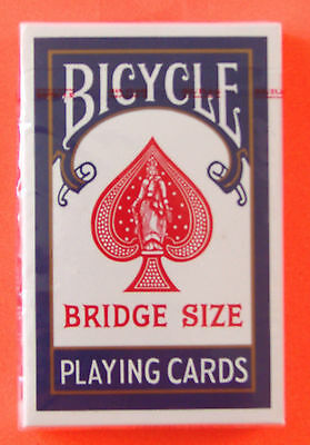 Bicycle Bridge Size 86 Playing Cards Sealed Deck Blue Made In Usa