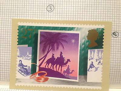 The Wise Man Christmas 1988  Royal Mail Stamp Picture Card Phq Postcard