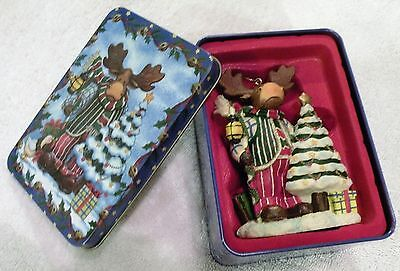 Moose Christmas Tree Ornament in Tin - Collectible Wildlife Animals Decorations