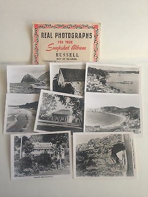 New Zealand Russel Bay Of Islands 8 X Real Photograph Mini Postcard