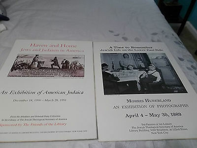 Two Vintage Jewish Exhibition Posters American Judaica