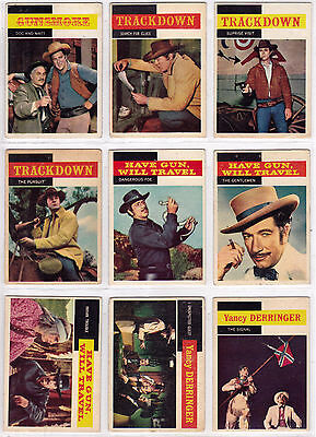1958 Tv Westerns Trading Card (U-Pick)  Very Good Condition Made In Usa By Topps
