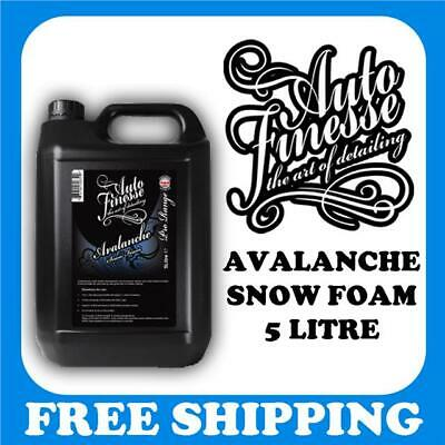 Auto Finesse Avalanche Snow Foam 5 Litre. Foaming Pre Wash Car Shampoo Solution
