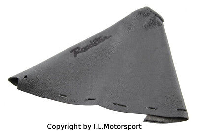 MX-5 Handbrake Gaiter Black Leather Black Logo Mazda MX-5 MK3 MK3,5 from 2005