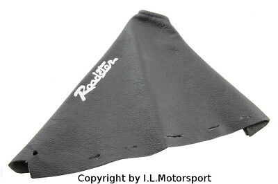 MX-5 Handbrake Gaiter Black Leather Silver Logo Mazda MX-5 MK3 MK3,5 from 2005